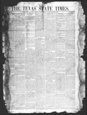 Primary view of object titled 'The Texas State Times (Austin, Tex.), Vol. 2, No. 8, Ed. 1 Saturday, January 27, 1855'.