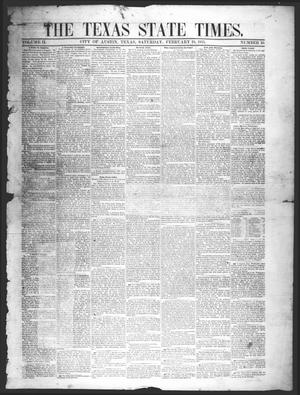 Primary view of object titled 'The Texas State Times (Austin, Tex.), Vol. 2, No. 10, Ed. 1 Saturday, February 10, 1855'.