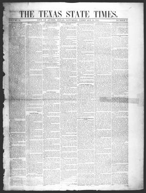 Primary view of object titled 'The Texas State Times (Austin, Tex.), Vol. 2, No. 12, Ed. 1 Saturday, February 24, 1855'.