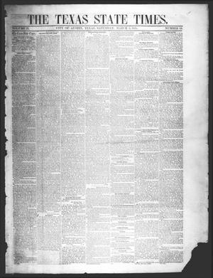 Primary view of object titled 'The Texas State Times (Austin, Tex.), Vol. 2, No. 13, Ed. 1 Saturday, March 3, 1855'.