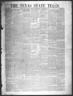Primary view of object titled 'The Texas State Times (Austin, Tex.), Vol. 2, No. 17, Ed. 1 Saturday, March 31, 1855'.