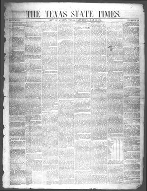 Primary view of object titled 'The Texas State Times (Austin, Tex.), Vol. 2, No. 23, Ed. 1 Saturday, May 12, 1855'.