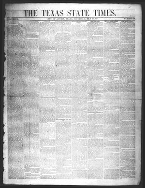 Primary view of object titled 'The Texas State Times (Austin, Tex.), Vol. 2, No. 24, Ed. 1 Saturday, May 19, 1855'.