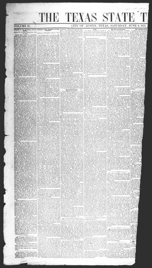 Primary view of object titled 'The Texas State Times (Austin, Tex.), Vol. 2, No. 27, Ed. 1 Saturday, June 9, 1855'.