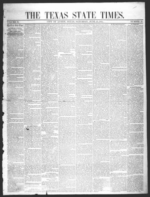 Primary view of object titled 'The Texas State Times (Austin, Tex.), Vol. 2, No. 29, Ed. 1 Saturday, June 23, 1855'.