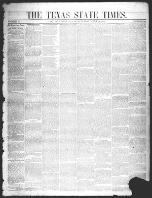 Primary view of object titled 'The Texas State Times (Austin, Tex.), Vol. 2, No. 30, Ed. 1 Saturday, June 30, 1855'.