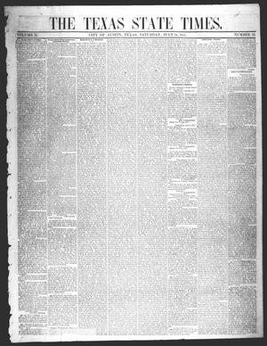 Primary view of object titled 'The Texas State Times (Austin, Tex.), Vol. 2, No. 32, Ed. 1 Saturday, July 14, 1855'.