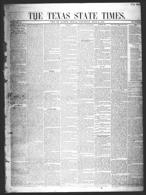 Primary view of object titled 'The Texas State Times (Austin, Tex.), Vol. 2, No. 33, Ed. 1 Saturday, July 21, 1855'.