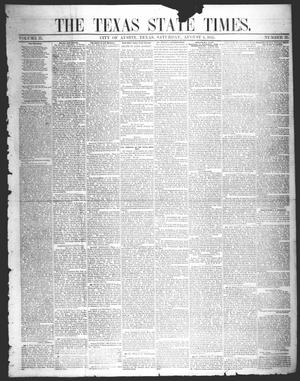 Primary view of object titled 'The Texas State Times (Austin, Tex.), Vol. 2, No. 35, Ed. 1 Saturday, August 4, 1855'.