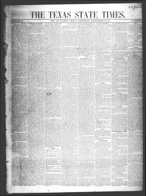 Primary view of object titled 'The Texas State Times (Austin, Tex.), Vol. 2, No. 40, Ed. 1 Saturday, September 8, 1855'.
