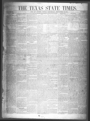 Primary view of object titled 'The Texas State Times (Austin, Tex.), Vol. 2, No. 43, Ed. 1 Saturday, September 29, 1855'.
