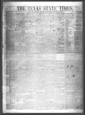 Primary view of object titled 'The Texas State Times (Austin, Tex.), Vol. 2, No. 46, Ed. 1 Saturday, October 27, 1855'.