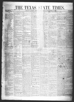 Primary view of object titled 'The Texas State Times (Austin, Tex.), Vol. 2, No. 50, Ed. 1 Saturday, November 24, 1855'.
