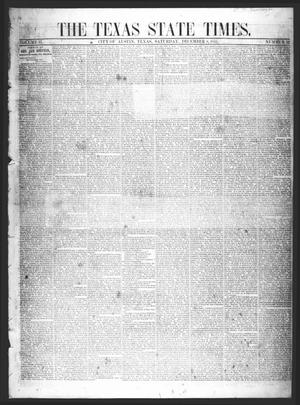 Primary view of object titled 'The Texas State Times (Austin, Tex.), Vol. 2, No. 52, Ed. 1 Saturday, December 8, 1855'.