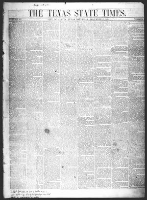 Primary view of object titled 'The Texas State Times (Austin, Tex.), Vol. 3, No. 1, Ed. 1 Saturday, December 15, 1855'.