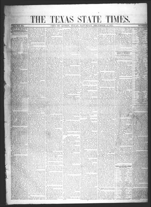 Primary view of object titled 'The Texas State Times (Austin, Tex.), Vol. 3, No. 2, Ed. 1 Saturday, December 22, 1855'.