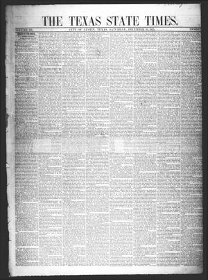 Primary view of object titled 'The Texas State Times (Austin, Tex.), Vol. 3, No. 3, Ed. 1 Saturday, December 29, 1855'.