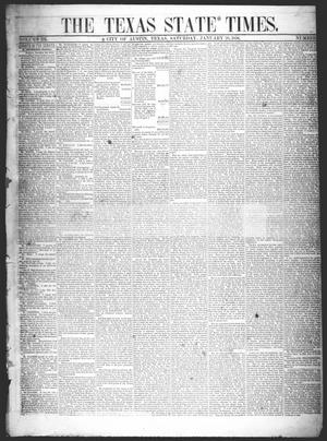 Primary view of object titled 'The Texas State Times (Austin, Tex.), Vol. 3, No. 7, Ed. 1 Saturday, January 26, 1856'.