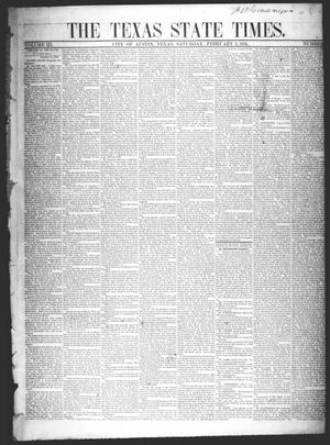 The Texas State Times (Austin, Tex.), Vol. 3, No. 8, Ed. 1 Saturday, February 2, 1856