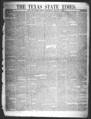 Primary view of object titled 'The Texas State Times (Austin, Tex.), Vol. 3, No. 34, Ed. 1 Saturday, August 2, 1856'.