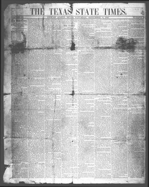 Primary view of The Texas State Times (Austin, Tex.), Vol. 3, No. 40, Ed. 1 Saturday, September 13, 1856