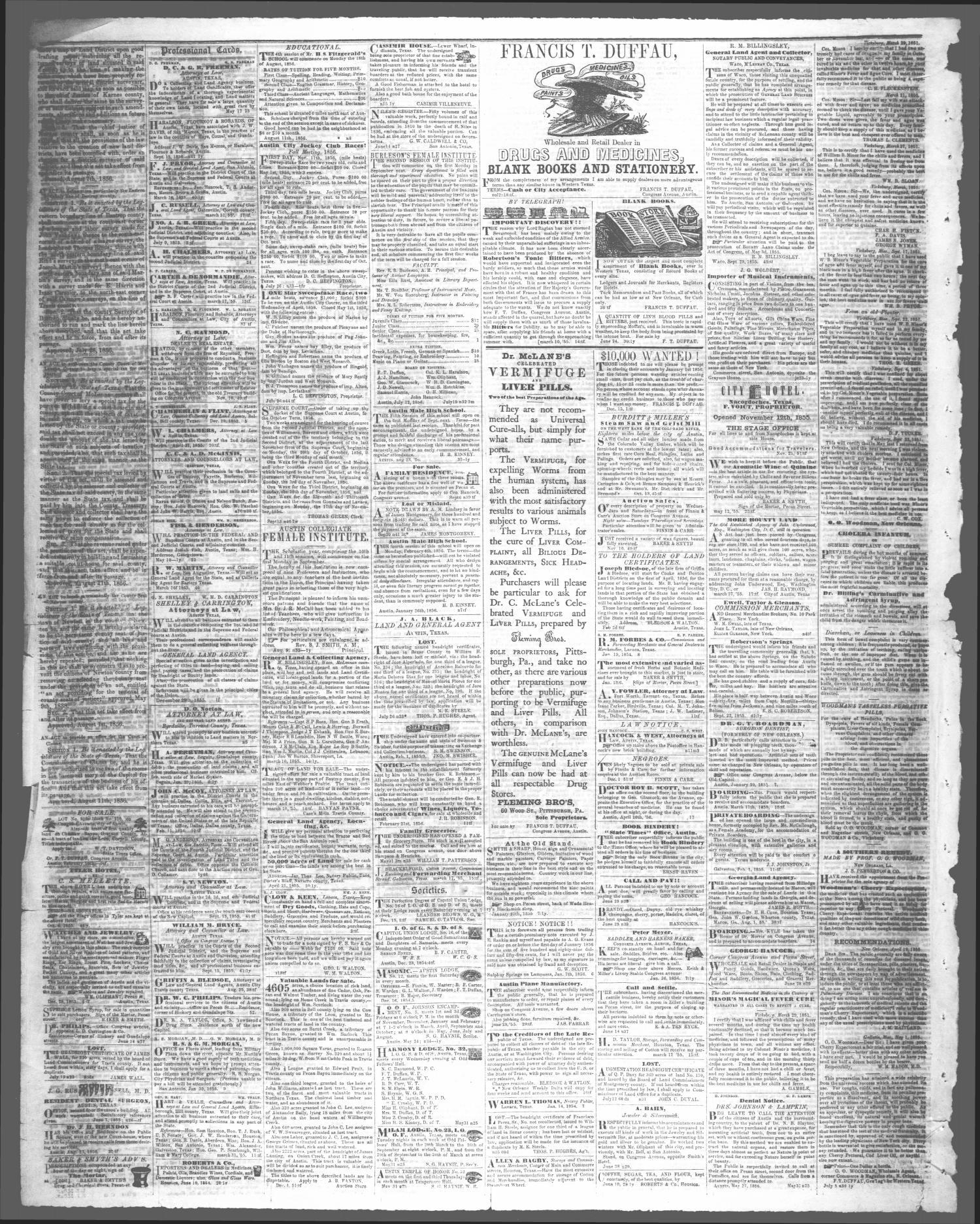 The Texas State Times Austin Tex Vol 3 No 43 Ed 1