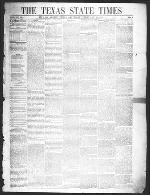 Primary view of The Texas State Times (Austin, Tex.), Vol. 4, No. 8, Ed. 1 Saturday, February 28, 1857