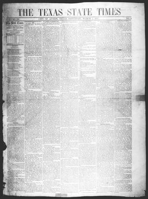 Primary view of object titled 'The Texas State Times (Austin, Tex.), Vol. 4, No. 9, Ed. 1 Saturday, March 7, 1857'.