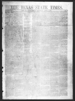 Primary view of object titled 'The Texas State Times (Austin, Tex.), Vol. 4, No. 13, Ed. 1 Saturday, April 4, 1857'.