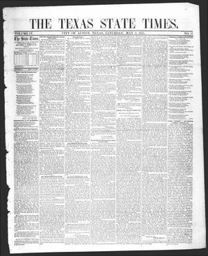 Primary view of The Texas State Times (Austin, Tex.), Vol. 4, No. 17, Ed. 1 Saturday, May 2, 1857