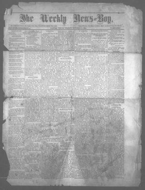 Primary view of object titled 'The Weekly News=Boy, Ed. 1 Friday, October 3, 1884'.