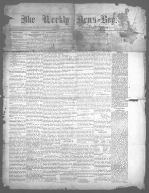 Primary view of object titled 'The Weekly News=Boy, Ed. 1 Friday, October 10, 1884'.