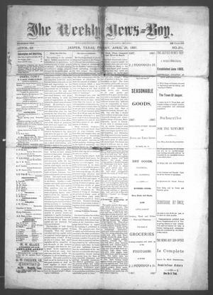 The Weekly News=Boy, Vol. 22, No. 2, Ed. 1 Friday, April 29, 1887