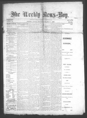 Primary view of object titled 'The Weekly News=Boy, Vol. 22, No. 4, Ed. 1 Wednesday, May 11, 1887'.
