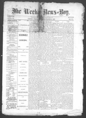 Primary view of object titled 'The Weekly News=Boy, Vol. 23, No. 2, Ed. 1 Wednesday, June 8, 1887'.