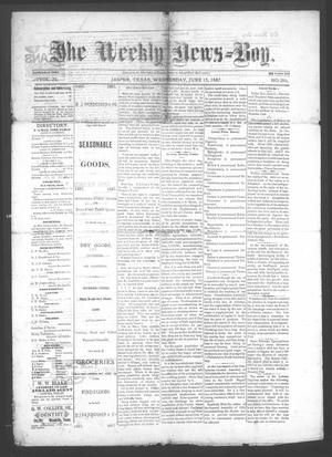 Primary view of object titled 'The Weekly News=Boy, Vol. 23, No. 2, Ed. 1 Wednesday, June 15, 1887'.