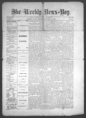 Primary view of object titled 'The Weekly News=Boy, Vol. 23, No. 6, Ed. 1 Wednesday, July 6, 1887'.