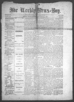 Primary view of object titled 'The Weekly News=Boy, Vol. 23, No. 6, Ed. 1 Wednesday, July 13, 1887'.