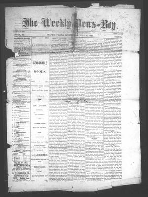 Primary view of object titled 'The Weekly News=Boy, Vol. 23, No. 7, Ed. 1 Wednesday, July 20, 1887'.