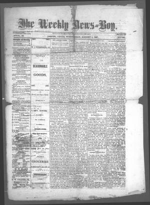 Primary view of object titled 'The Weekly News=Boy, Vol. 23, No. 9, Ed. 1 Wednesday, August 3, 1887'.