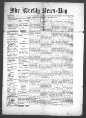 Primary view of object titled 'The Weekly News=Boy, Vol. 23, No. 10, Ed. 1 Wednesday, August 10, 1887'.