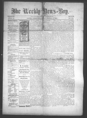 Primary view of object titled 'The Weekly News=Boy, Vol. 23, No. 11, Ed. 1 Wednesday, August 17, 1887'.