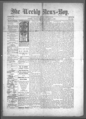 Primary view of object titled 'The Weekly News=Boy, Vol. 23, No. 14, Ed. 1 Wednesday, September 7, 1887'.