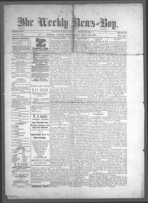 Primary view of object titled 'The Weekly News=Boy, Vol. 23, No. 17, Ed. 1 Wednesday, September 28, 1887'.