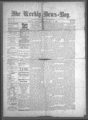 Primary view of object titled 'The Weekly News=Boy, Vol. 23, No. 21, Ed. 1 Wednesday, October 26, 1887'.