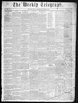 Primary view of object titled 'The Weekly Telegraph (Houston, Tex.), Vol. 21, No. 51, Ed. 1 Wednesday, March 5, 1856'.