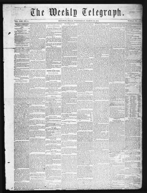 Primary view of The Weekly Telegraph (Houston, Tex.), Vol. 22, No. 2, Ed. 1 Wednesday, March 26, 1856