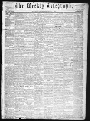 The Weekly Telegraph (Houston, Tex.), Vol. 22, No. 16, Ed. 1 Wednesday, July 2, 1856