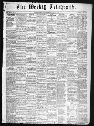 Primary view of object titled 'The Weekly Telegraph (Houston, Tex.), Vol. 22, No. 17, Ed. 1 Wednesday, July 9, 1856'.