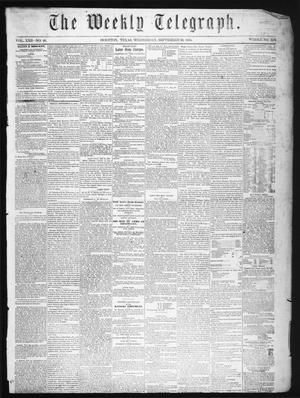 The Weekly Telegraph (Houston, Tex.), Vol. 22, No. 26, Ed. 1 Wednesday, September 10, 1856